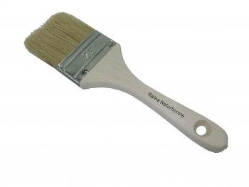 Einfacher Flachpinsel  60 mm breit helle Borstenmischung