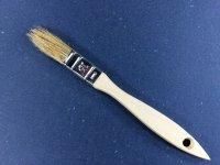Einfacher Flachpinsel  15 mm breit helle Borstenmischung