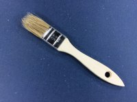 Einfacher Flachpinsel 25 mm breit helle Borstenmischung