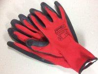 Handschuh Black Grip rot Gr.9  12 Paar