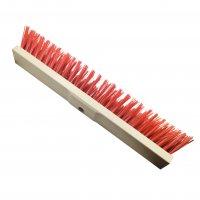 Straßenbesen 60 cm Hartholz  PVC rot