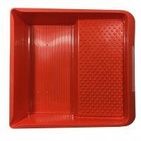 Farbwanne 32x36 cm Kunststoff lösungsmittelbeständig rot