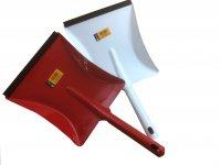 Kehrschaufel Metall farbig emailliert mit Lippe