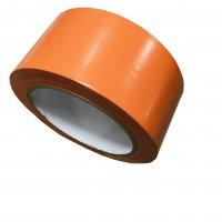 Weich PVC Klebeband glatt orange 50mm breit 33m lang